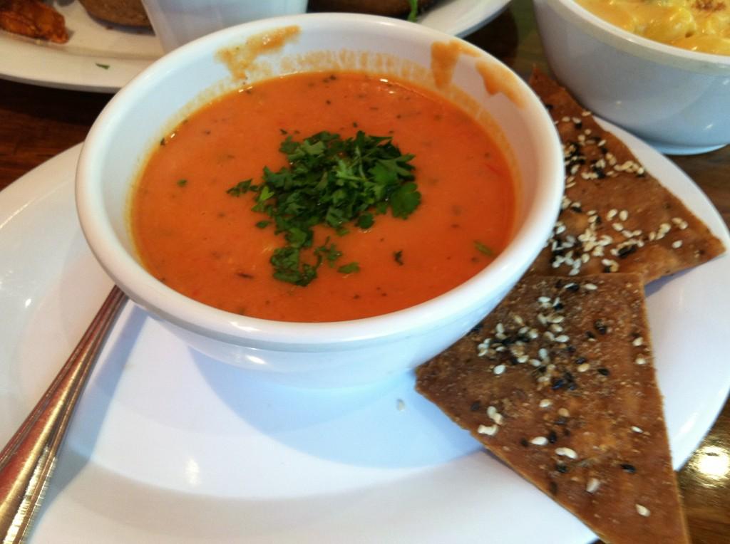 the veggie grill tomato basil soup