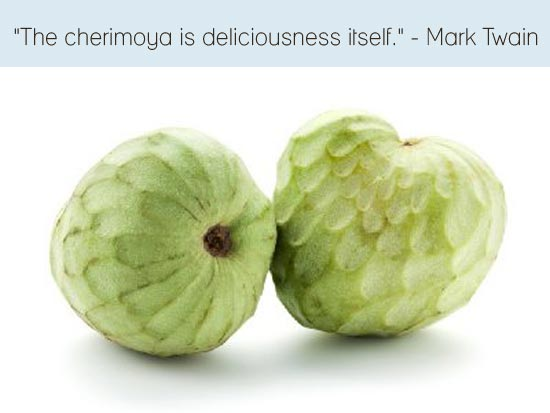 The Cherimoya is deliciousness itself, Mark Twain, Makeitvegan.com