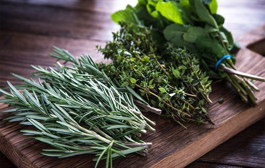 fresh herbs make it vegan