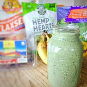 green salad smoothie-style